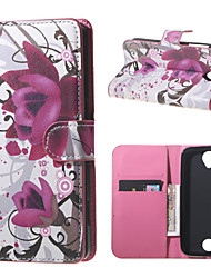 Purple Flowers Wallet Leather Stand Case for Acer Liquid Z320 Z330