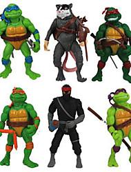 6stk Teenage Mutant Ninja Turtles action figurer klassiske samling legetøj sæt wsn (højde 11.5cm)