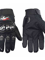 Motorrad-Handschuhe Vollfinger Polyurethan / Baumwolle / Nylon M / L / XL Schwarz