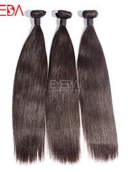 3pcs / lot vierges soie cheveux tout droit brésilien extensions de cheveux humains naturel noir 8 '' - 30 '' tisse les cheveux faisceaux