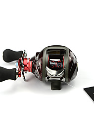 DMK DM120LA-C4 12 Bearing Bait Casting Fishing Reel Gear Ratio 6.3:1 Max Drag 5kg Left Handle  Magnetic Brake