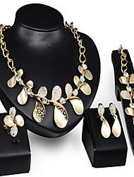 Vintage / Party-Damen-Halskette / Ohrring / Armband / Ring(Vergoldet / Zirkonia)