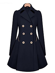 Peach John Women's Casual Coats  ,  Pan Collar Long Sleeve