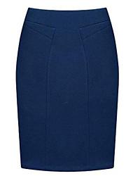 Damen Röcke  -  Bodycon / Übergröße Knielang Wolle / Andere Mikro-elastisch