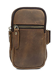Unisex Cowhide Sports / Casual / Outdoor Clutch / Armbands Running Sports  / Wristlet / Mobile Phone Bag - Brown
