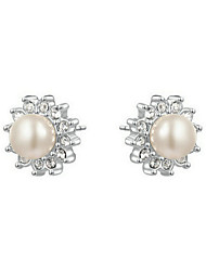Stud Earrings Women's Imitation Pearl Earring Imitation Pearl