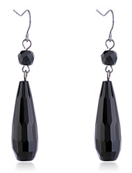 Drop Earrings Resin Alloy Simple Style Drop Black Jewelry Party Daily Casual 2pcs