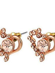 Damen Ohrring Legierung Kubikzirkonia Stud Earrings