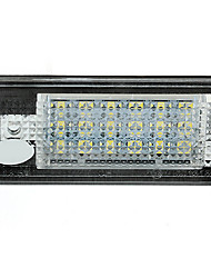 2 blanc 18 conduit 3528 SMD feux de plaque d'immatriculation lampes ampoules pour audi a3 8p A6 4F