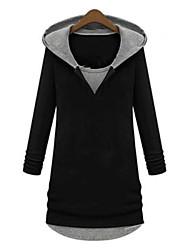 Hoodies Aux femmes Manches Longues Décontracté / Grandes Tailles Coton Moyen