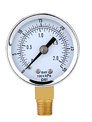 0~30psi 0~2bar Mini Dial Air Compressor Meter Hydraulic Pressure Gauge Gage Manometer Double Scale