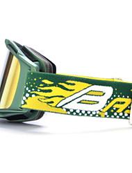 sable basto cadre vert capteurs jaune lunettes de ski de neige