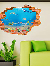3D Sticker Wall Ocean Stickers for Dining Room Kid Room Decorations Wall Decals Wall Art Decor