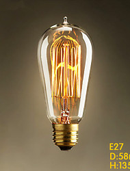 E27 25W ST58 Straight Wire Tip Edison Tungsten Decorative Art Bar