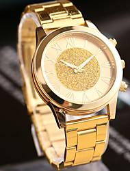 Women's Watch L.WEST Fashion Roman Numerals Gold Dust Steel Belt Quartz Watch Cool Watches Unique Watches