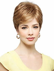Glamorous Capless Hand Tied -Top Virgin Remy Human Hair Short Straight Wigs