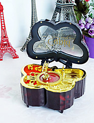 Valentine's Day Gift Plastic Arts and Crafts Rotating Music Box Music Box