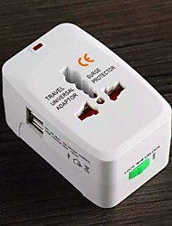 Worldwide universal adapter plug socket multi-function single and double USB converter plug socket travel abroad