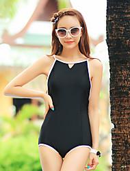 Women' s Siamese Triangle Halter One Piece Swimsuit