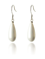 Women's Drop Earrings Fashion Costume Jewelry Pearl Silver Plated Drop Jewelry For Party Daily Casual