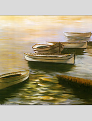 Oil Paintings Modern Sea View, Canvas Material with Stretched Frame Ready To Hang SIZE:70*70CM.