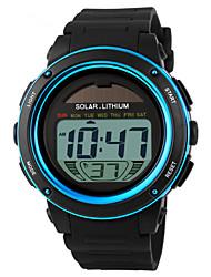 SKMEI Мужской Спортивные часы Наручные часы Цифровой LED Календарь Секундомер Защита от влаги тревога Солнечная энергия Спортивные часы PU