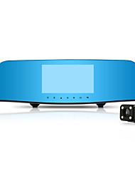 "1080P Dual Car Rear-view Mirror 4.3"" LCD GPS Car Tachograph 140 Degree Dual Lens Car Camera With 16GB TF Card"