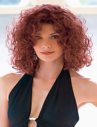 Wine Red Lady Women Cheap Price Synthetic  Wig To European And America