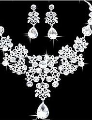 MPL Korean explosion elegant Bride Wedding Necklace Earrings Set