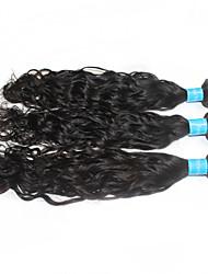 "3pcs/lot 1B Black Virgin Peruvian Natural Wave Extensions Remy Human Hair Weave 12""-30"" Free Tangle"
