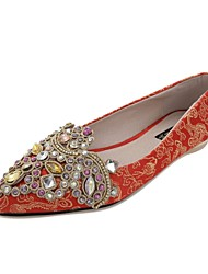 Women's Wedding Shoes Comfort Pointed Toe Flats Wedding Red