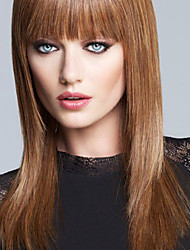 Silky Straight Human Virgin Remy Hair Hand Tied -Top  Celebrity Hairstyle Woman's Capless Wig