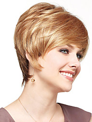 Designed Hand Tied -Top Quality Human Virgin Remy Short Straight Capless Wigs