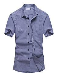 Men's Summer Short Sleeve Gingham Classic Shirts