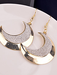 Top Quality European Style Moon Shape Drop Earrings for Wedding Party