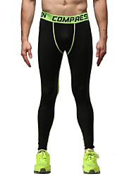 Running Tights / Pants / Bottoms Men's Breathable / Lightweight Materials Fitness / Running Vansydical Sports Wear Tight Performance Black