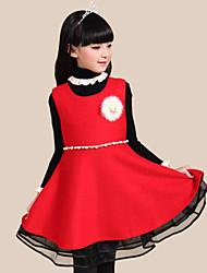 Vestido Chica de - Invierno / Otoño - Algodón - Rojo