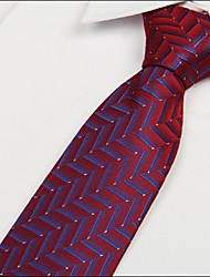 Red Blue Striped Arrow Jacquard Men evening wear Tie Necktie