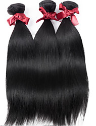 Malaysia Virgin Hair Straight Wefts Unprocessed Malaysia Silkuy Straight Hair #1B Color Hair Bundles Top Grade 3Pcs/lot