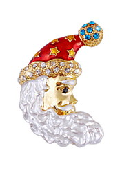 Santa Diamond Brooch Personalized Clothing