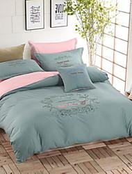 algodón bordado yuxin®advanced cuatro piezas simples versión europea sólida larry kit de 1,5 a 1,8 m cama / juego de cama 2,0 m