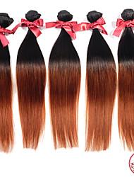 Омбре Перуанские волосы Прямые 12 месяцев 1 шт. волосы ткет