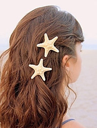 Women Metal Starfish Handmade Headdress Hairpin Duckbill Clip Hair Accessories