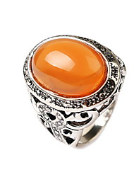 Fine Imitation Agate Big Rings Hollow Carved