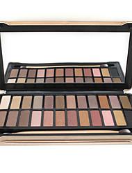 24 Palette de Fard à Paupières Sec / Mat / Lueur / Matériel Fard à paupières palette Poudre NormalMaquillage Quotidien / Maquillage de