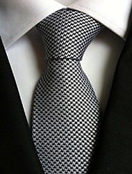 Men Wedding Cocktail Necktie At Work White Black Colors Tie