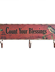 "Household Essentials Seamless Hook Retro ""Count Your Blessings""/love/home  Decorated"