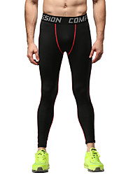 Running Bottoms / Tights / Pants Men's Breathable Running Sports Tight Black M / L / XL