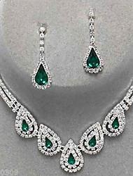 Schmuckset Modisch Edelstein Imitation Diamant Tropfen Smaragd Verde Oliva Clara Für Party Besondere Anlässe Geburtstag Hochzeitsgeschenke