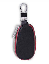 Unisex PU / Cowhide Professioanl Use Key Holder - Blue / Red / Black